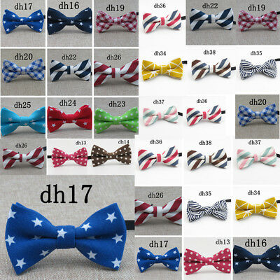 Children Boys Kids Pre-tied Solid Bow Tie Necktie Bowtie For Party Wedding NEW