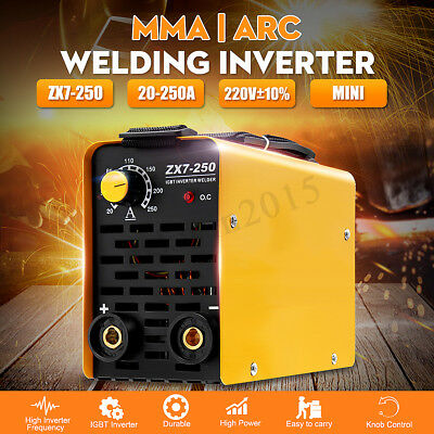Portable MINI 220V IGBT ZX7-250 Copper MMA Inverter ARC Welding Machine 250A