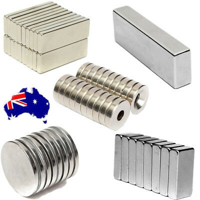 1/20X Super Strong Block Ring Round Cuboid Rare Earth NdFeB N50/N52 Magnets AU!