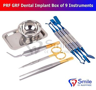 PRF GRF Dental Implant Box Set Of 9 Instruments Surgical Surgery Tools Kit CE UK