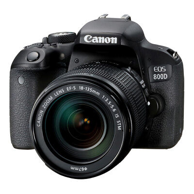 NEW Canon EOS 800D 24.2MP DSLR Camera with EF-S 18-135mm f/3.5-5.6 IS STM Lens