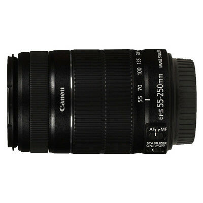 NEW Canon EF 55-250mm f/4-5.6 IS II Lens For EOS 1 Year Warranty
