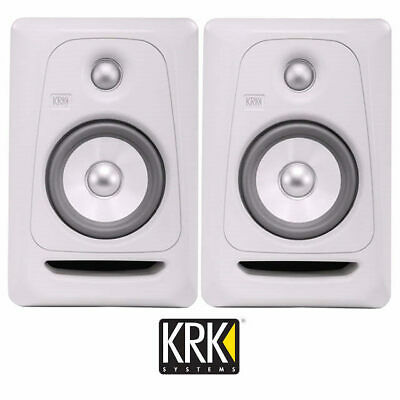 "KRK Rokit 5 Powered Studio Monitor Speakers White RP5G3 WN Gen 3 5"" Active Pair"