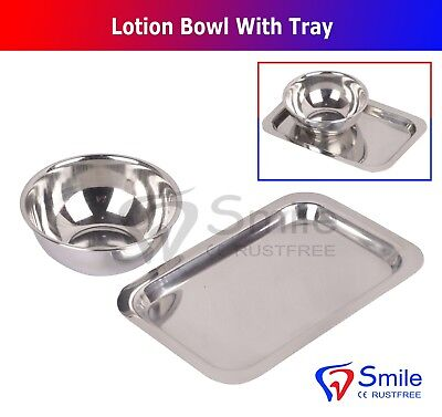 Lotion Bowl With Tray Implant Bone Mixing Cup Dental Surgical Laboratory Bowl UK