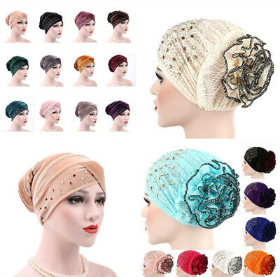 UK Women Muslim Turban Hat Chemo Cap Hair Loss Head Scarf Wrap Cover Hijab Gift