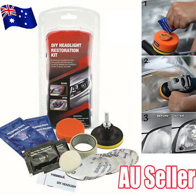 Car Headlight Lens Restoration System Professional Restorer Polishing Kit S4