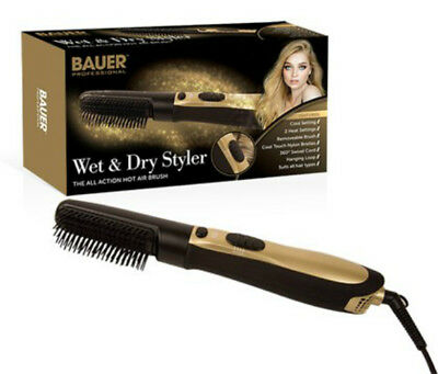 Wet And Dry Hot Air Brush Hair Styler 3 Temperature Settings 2 x Speed Control