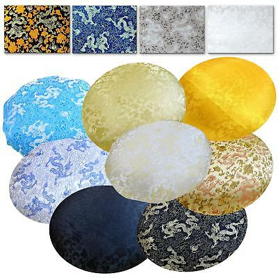Round Shape Cover*Chinese Rayon Brocade Floor Chair Seat Cushion Case Custom*BL5