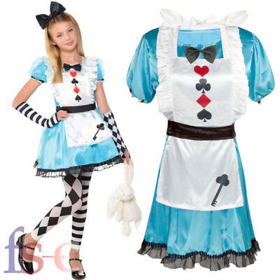 World Book Day Girls Alice In Wonderland Costume Childrens Fancy Dress Outfit