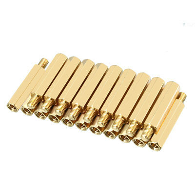 20pcs M4 25+6mm Female Male Thread Brass Hex Standoff Spacer Screws PCB Pillar