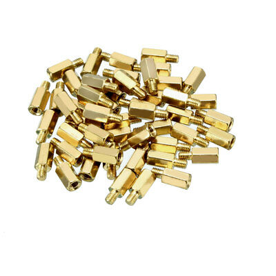 50pcs M3 8+4mm Female Male Thread Brass Hex Standoff Spacer Screws PCB Pillar