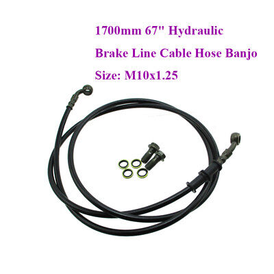 1700mm Hydraulic Brake Line Cable Hose For Pit Dirt Bike ATV Quad Buggy Go Kart