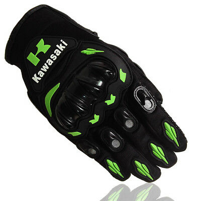 Size L Kawasaki Motorcycle Full Finger Gloves Motocross Motorbike Retro