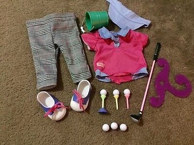 Our Generation Doll Golf Set - in Excellent condition