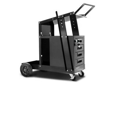 4 Drawer Welding Trolley - Black