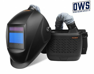 TECMEN Air Fed Welding Helmet / Mask PAPR / BLACK