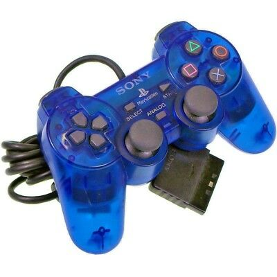 Sony PlayStation PS2 Official Dual Shock Controller Clear Blue Japan Import SCPH