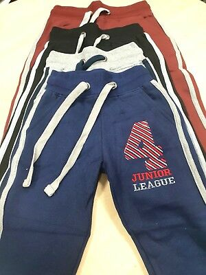 Kids Girls Boys School Jogging Bottoms Fleece Pe Sports Trousers Joggers Bottom