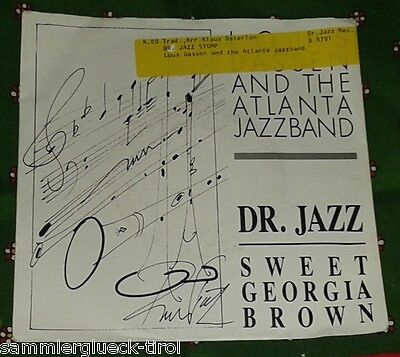 "7"" - Lous Dassen and the Atlanta Jazzband - Dr. Jazz - Sweet Georgia Braun (A)"