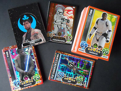 Topps Journey To Star Wars Force Attax Extra Complete Set 138 Cards