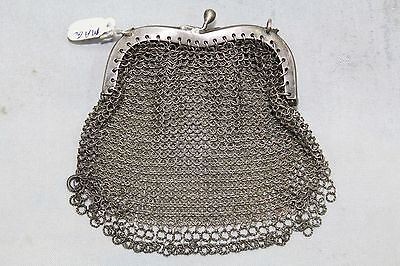 Very Antique Traditional Handmade Design Alloyed SILVER Small Chain Women Purse