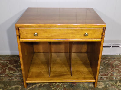 unusual Ethan Allen solid Maple record album cabinet end table Heirloom ? 3403