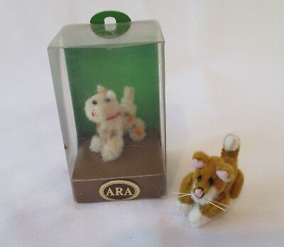 ARA Wool Scottie Terrier Dog and Miniature Jointed Cat