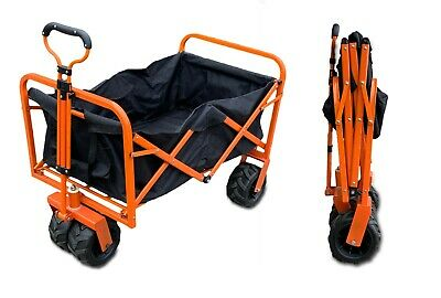 Sherpa Folding Cart Garden Trolley 150KG Pull Along 4 Wheel XL Festival Camping
