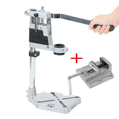 Plunge Power Drilling Stand Bench Pillar Pedestal Clamp & Drill Press Vice Ta