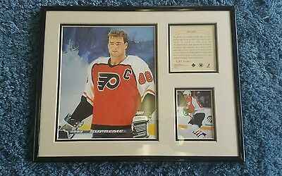 NHL Eric Lindros picture drawing and picture with writing 1281/12500 FLYERS