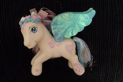 Girls toys My Little Pony 3-10 years rare collectors wedding wings white/aqua