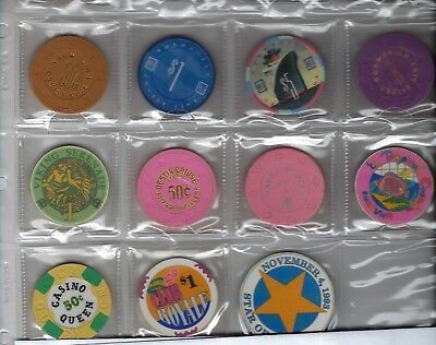 Off Shore Gambling Boats   I Believe All Boat Chips   11 Pcs   See Scan