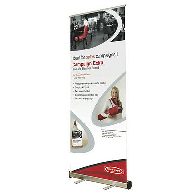 "Roll Up Banner Stand 33.45""x79.5"" Trade Show Sign Signage Display w/ Bag"