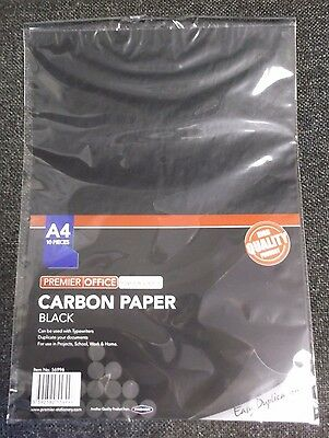 10 Sheet A4 Carbon Paper  Hand Copy/ Typewriter  - Black