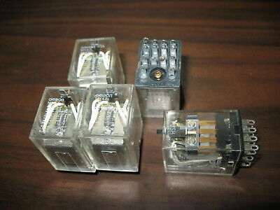 Lot of 5 Omron MY4ZI Cube Relays (14 Pin, 24VDC Coil)