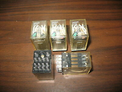 Lot of 5 Omron MY4N Cube Relays (14 Pin, 24VDC Coil)