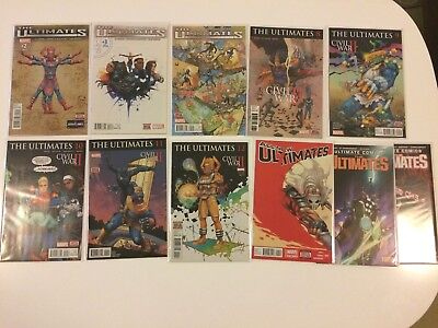 Lot of 11 Ultimates #2 3 5 8 9 10 11 12 All New Ultimates #11 Marvel Comics 2016