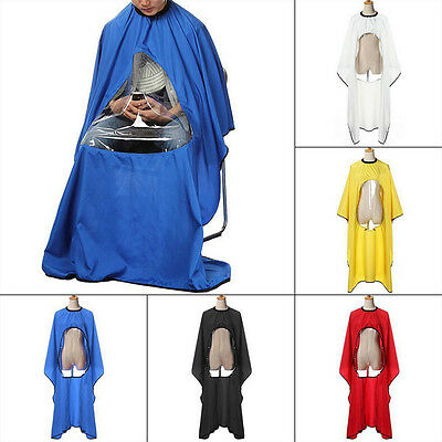Great Hairdresser Cutting Gown Cape Barber Apron Hair With Viewing Window 3T