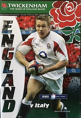ENGLAND v ITALY 2007 RBS SIX NATIONS RUGBY PROGRAMME , Rugby Italia