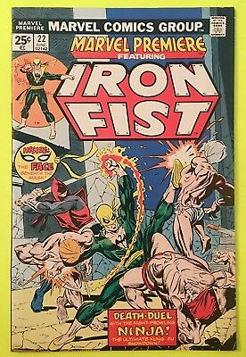 Marvel Premiere 22 FN+ 6.5 1975 Iron Fist Stan Lee $3.95 unlimited Ship