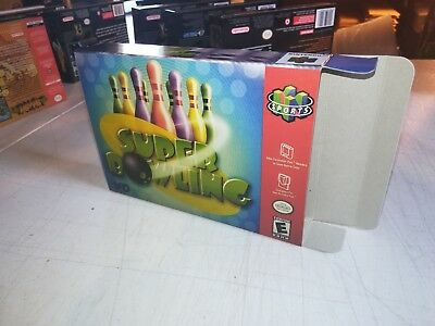 Super Bowling Box Only N64 Replacement Art Case/Box! Nintendo 64!
