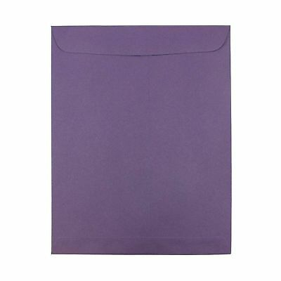 JAM PAPER 10 x 13 Open End Catalog Premium Envelopes - Dark Purple - 10/Pack