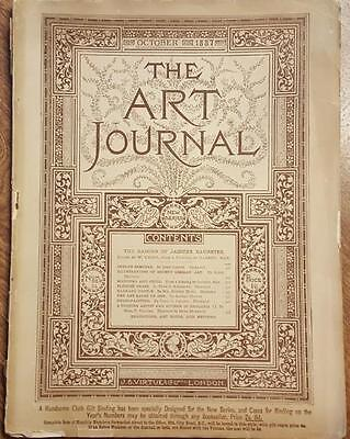 The Art Journal Magazine October 1887 Antique Magazine Engravings Sketches, ETC