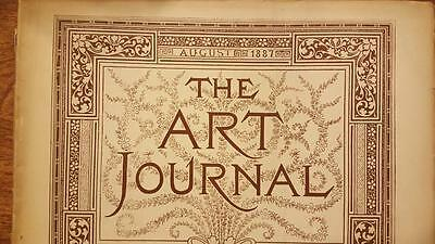 The Art Journal Magazine August 1887 Antique Magazine Engravings Sketches, ETC