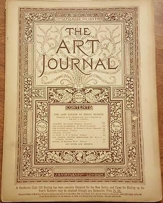 The Art Journal Magazine September 1887 Antique Magazine Engravings Sketches ETC