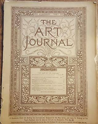 The Art Journal Magazine February 1887 Antique Magazine Engravings Sketches, ETC