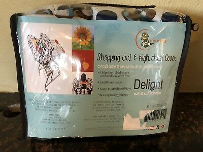 Croc n Frog Shopping Cart & High Chair Cover-Delight