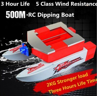 500M Wireless RC Fishing Bait Boat 2KG Load With 2.6L Capacity Bait Cabin