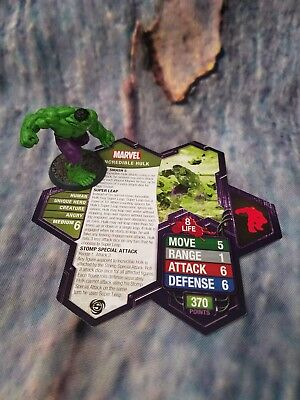The Incredible HULK Figure HEROSCAPE MARVEL Game Replacement piece Card Pieces