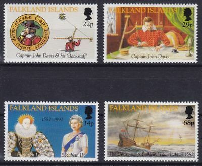 Falkland-Inseln Mi-Nr. 565 - 568 **, Discovery of the Falkland Islands (11 ME)
